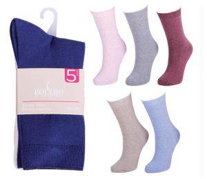 Ladies Basic Socks 5 Pack - BW615