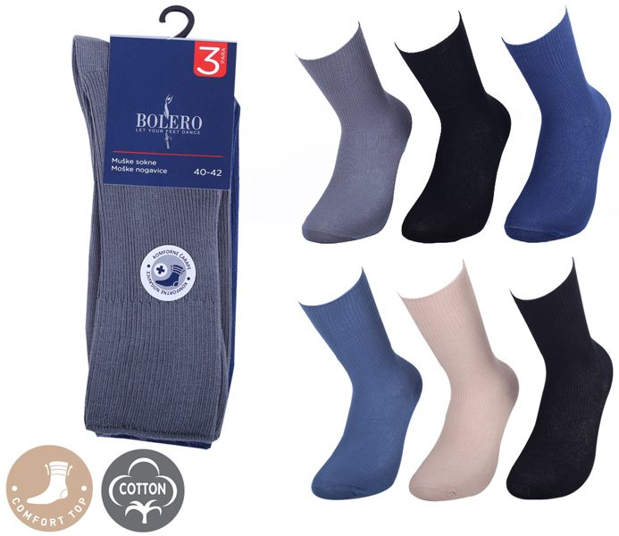 Comfort Top Medical Socks 3 Pack – BM252