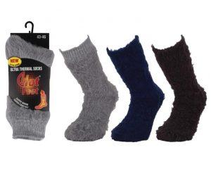 Hot Feet Brushed Socks -BM806