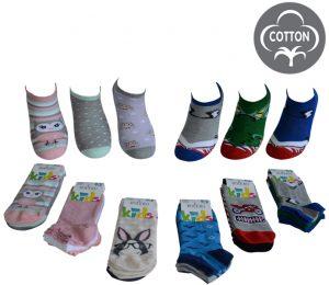 Kids Short Socks 3 Pack - BK822