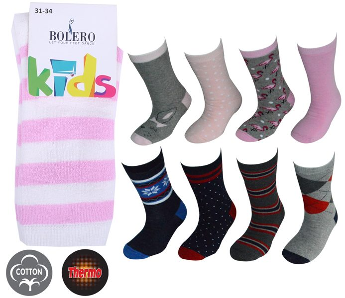 Kids Thermo Cotton Socks – BK830