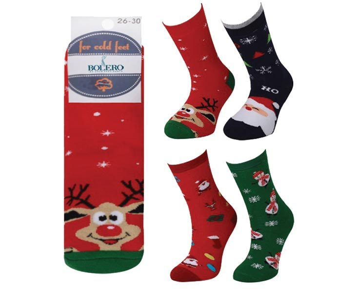 Kids Xmas Terry Socks – BK828