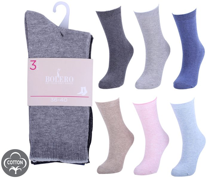 Ladies Classic Socks 3 Pack – BW613