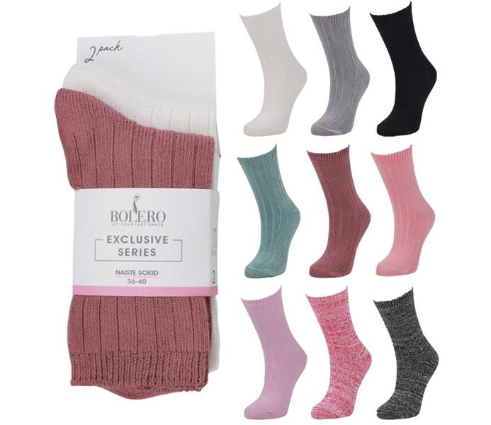 Ladies Cozy Thicker Bamboo Socks 2 Pack – BW685
