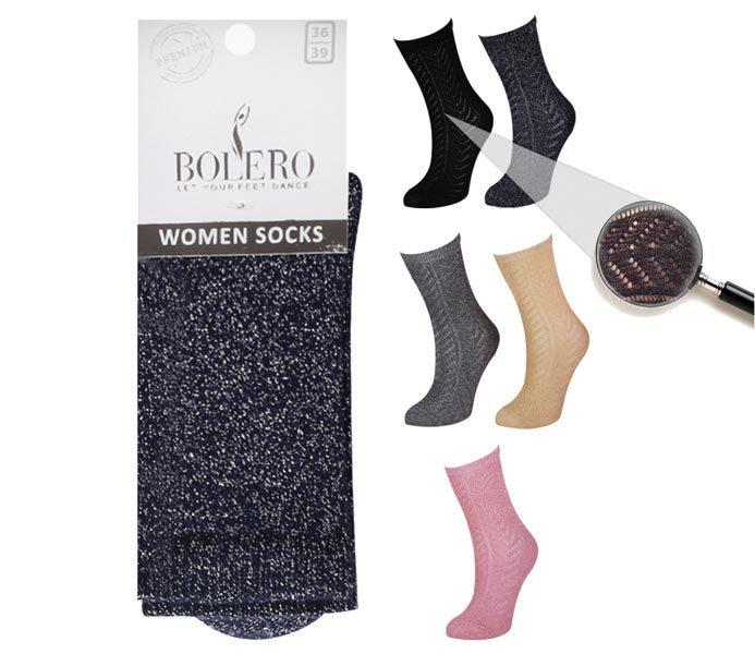 Ladies Crochet Socks – BW651