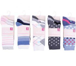 Ladies Designed Socks 3 Pack - BW623