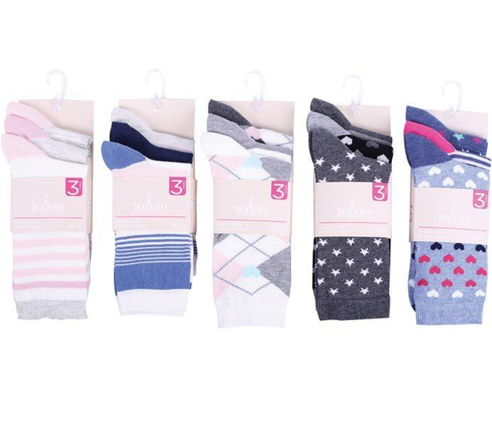 Ladies Designed Socks 3 Pack – BW623
