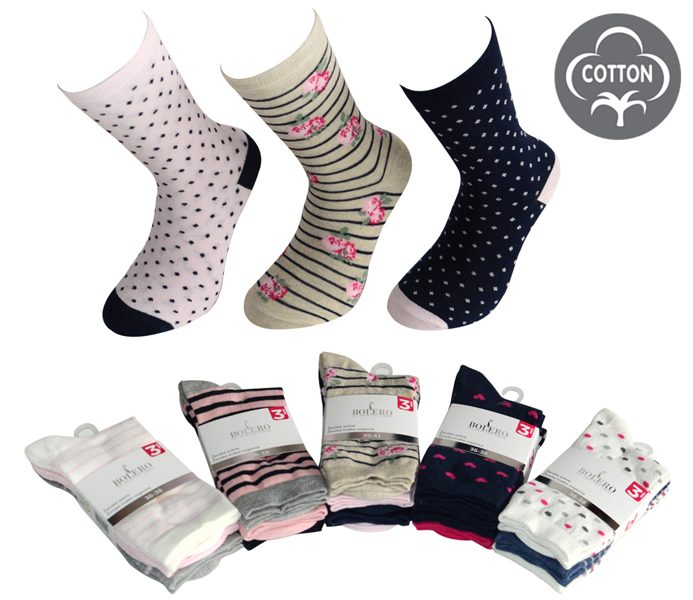 Ladies Designed Socks 3 Pack – BW623
