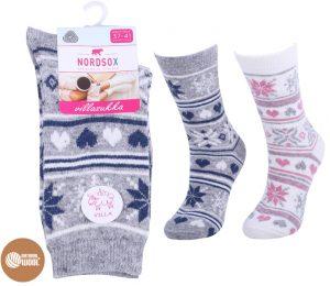 ladies-nordic-pattern-wool-socks-bw777