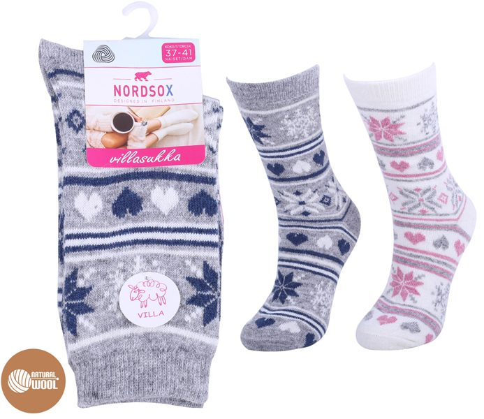 Ladies Nordic Pattern Wool Socks – BW777