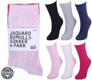 Ladies Pointelle Socks 4 Pack - BW614