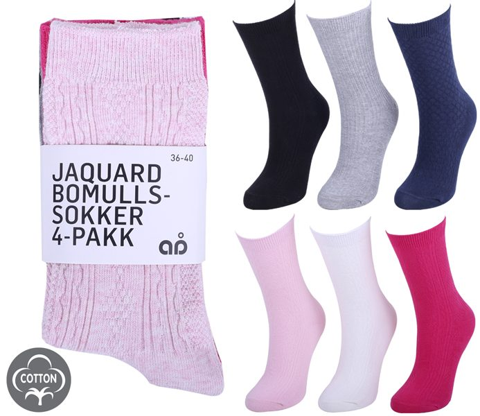 Ladies Pointelle Socks 4 Pack – BW614