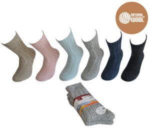 Ladies Ragg Socks 2 Pack - BW635