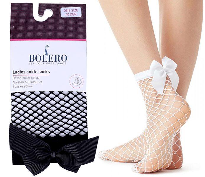 Ladies Ribbon Fishnet Socks – BP3190