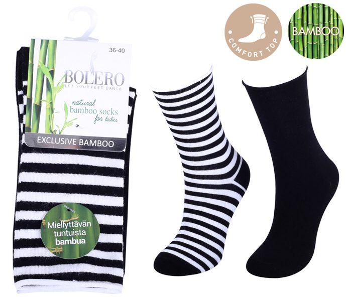 Ladies Roll Top Bamboo Socks 2 Pack – BW684