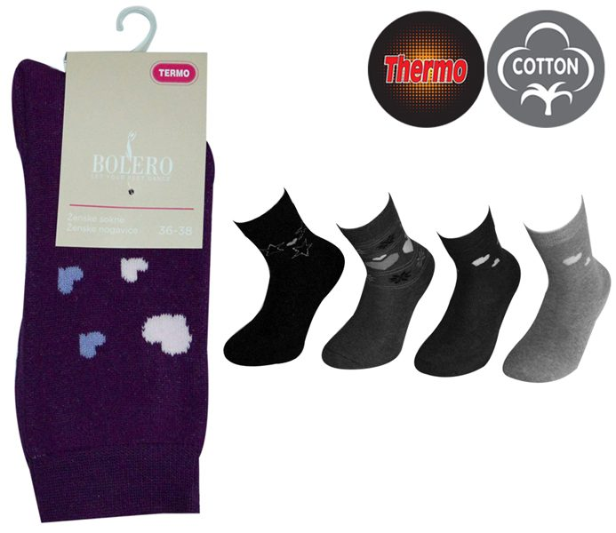 Ladies Thermo Cotton Socks – BW646