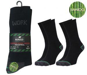 Men Bamboo Work Socks 2 Pack - BM287