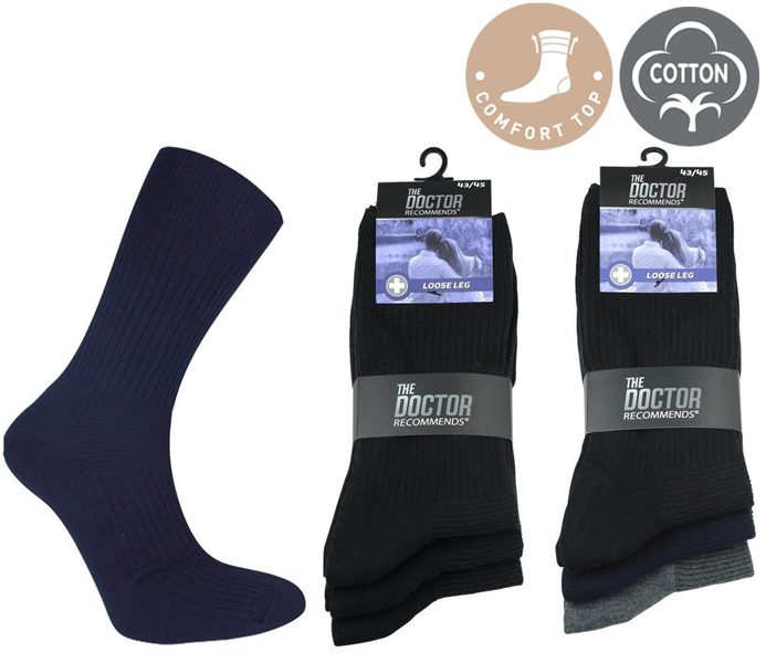 No-Rubber Socks Cotton Stretch – BM254