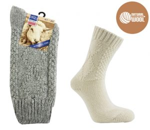 Thick Wool Socks Cable Stitch - BM447