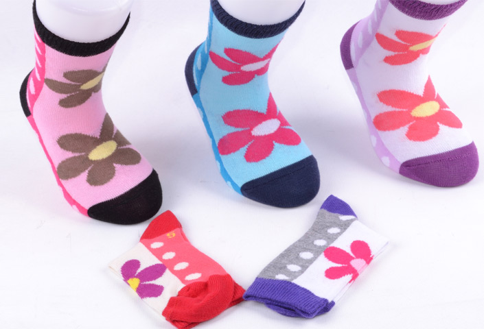 Girls Flower Socks – BK946
