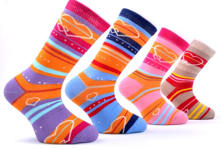 Hearts Girls Socks – BK114