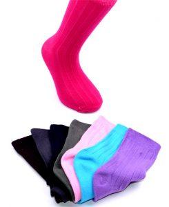 Kids Solid Socks - BK341
