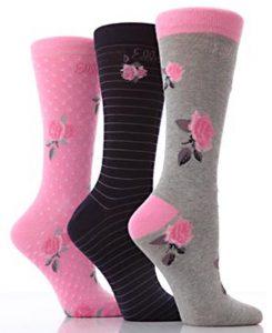 Rose design Women Socks - BW545
