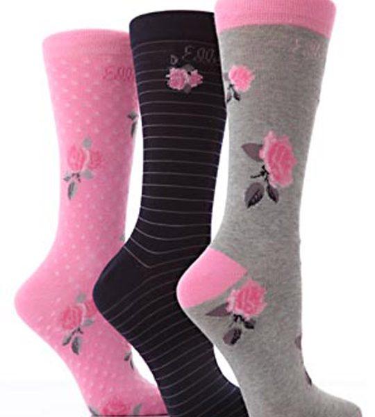 Rose Design Women Socks – BW545