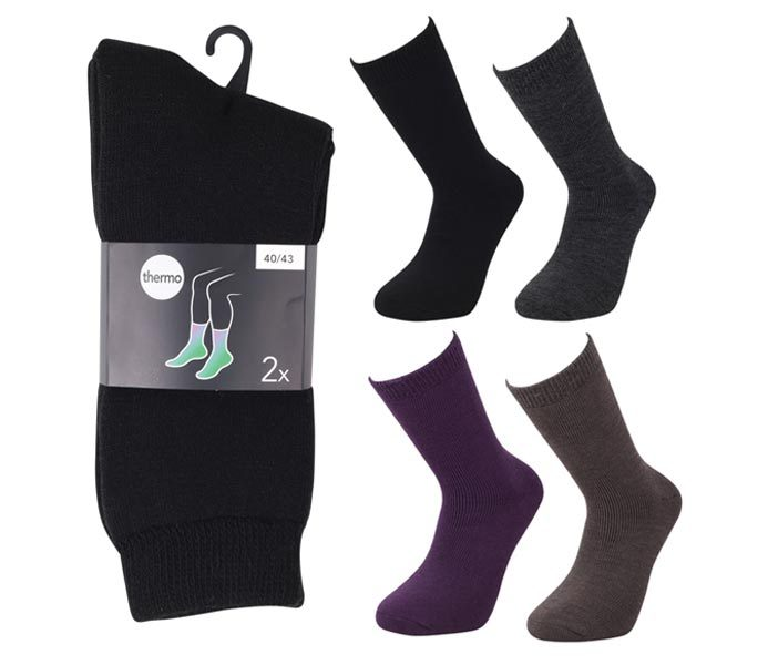 Thermo Wool Brushed Socks 2 Pack- BM808