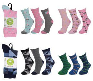 Kids Organic Cotton Socks 3 Pack - BK163
