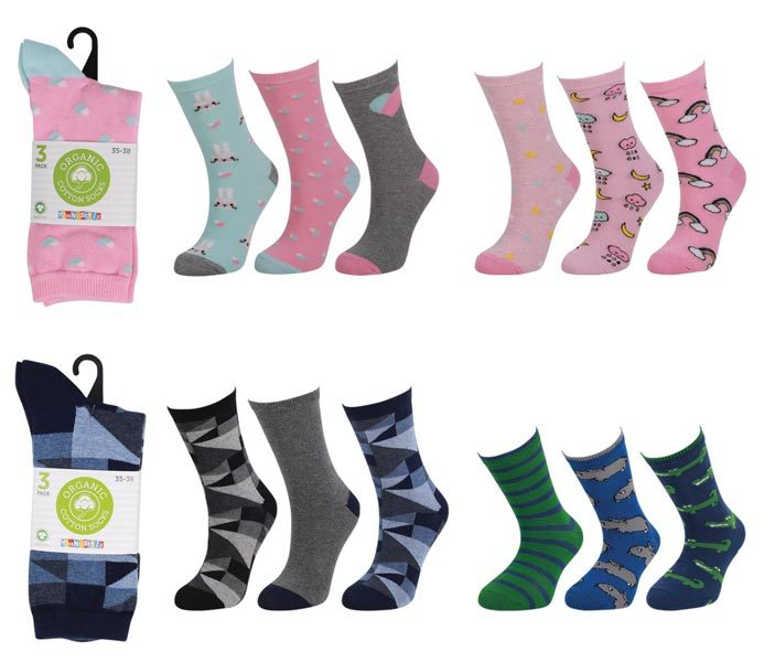 Kids Organic Cotton Socks 3 Pack – BK163