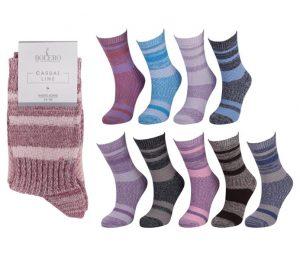 Ladies Jacquard Cotton Socks - BW681