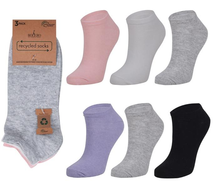 Ladies Recycled Short Socks 3 Pack – BW241