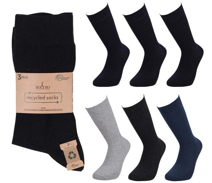 Men Reycyled Socks 3 Pack – BM238