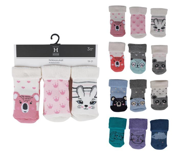 Babies Terry Socks 3 Pack – BK864