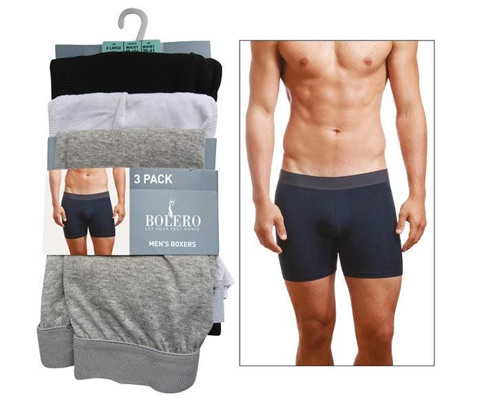 Men Basic Boxers 3 Pieces Pack – BU103