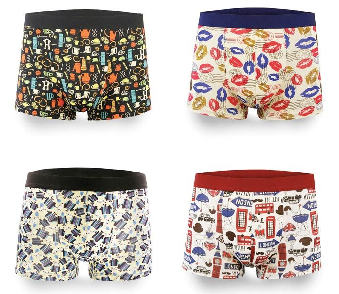 Men Happy Colorful Boxers – BU112