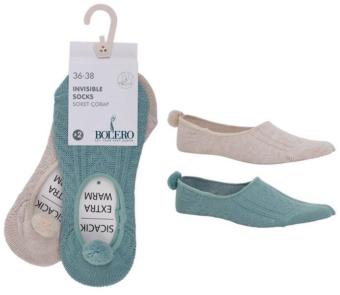 Homewear Steps With Pompom 2 Pack – BW738
