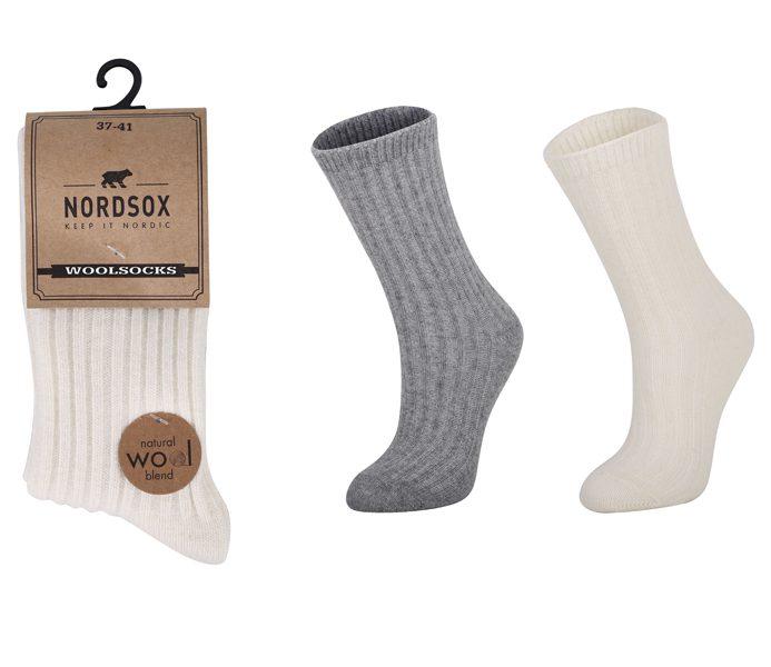 Ladies Lounge-Wear Wool Socks 2 Pack – BW716