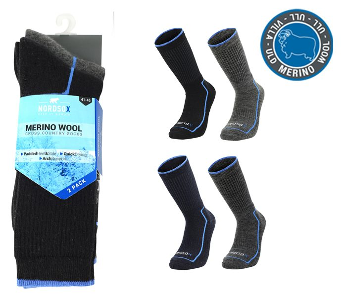 Merino Wool Cross Country Socks 2 Pack – BM761